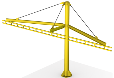 Single Pole Fall Protection System